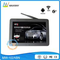 LAN Wifi wireless 3G 4G network programmable 10 inch android LCD ad display monitor