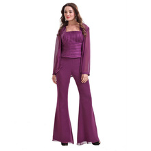 Ladies' Fashion Chiffon 3pcs set Pants Suit For 2013