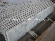 White marble interior window sills