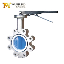 100% bi-directional tight shut-off Cast Iron semi lug handles type butterfly valve