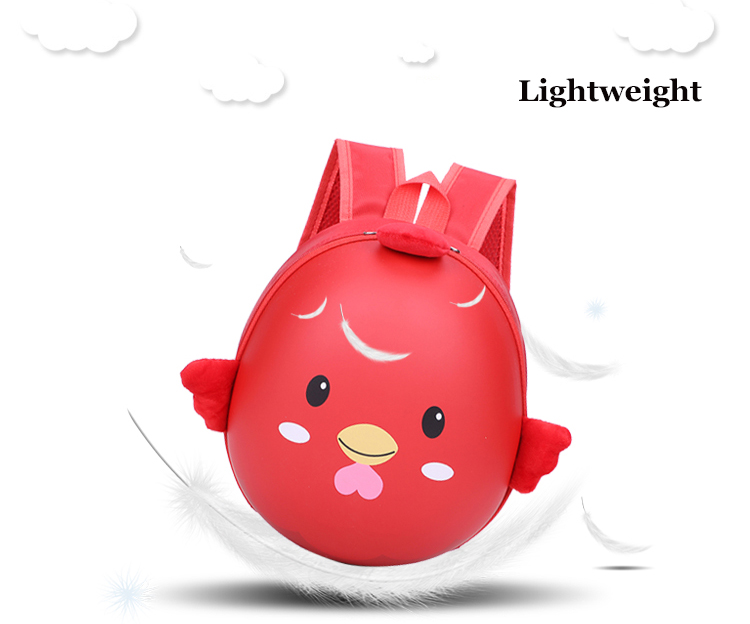 Waterproof EVA Nylon Girls Boys Kindergarten School backpack 3D Cartoon Lovely Chicken Design child kids School bag