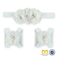 White Flower New Design Korea Baby Headband ,Baby Girl Headband Wholesale