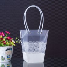 Clear PP plastic flower bag fresh flowers sleeve packaging bags with picture printed