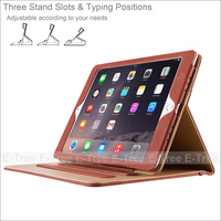 Leather Stand Folio Case Cover For Apple iPad Pro 9.7 inch with Multiple Viewing angles auto Sleep Wake