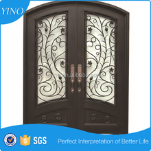 Strong iron grill door designs hot used wrought iron door gates ID003