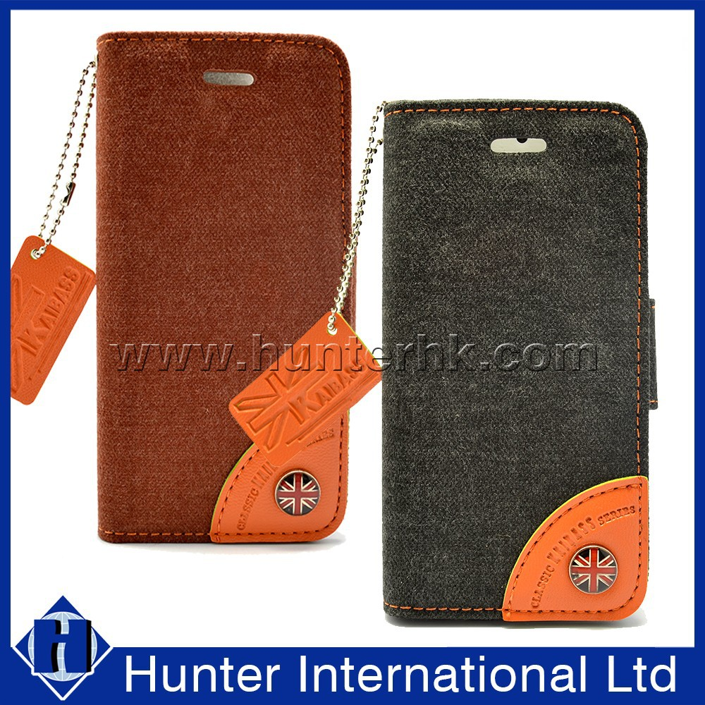 Classical Jean Material For iphone 5 Wallet Case