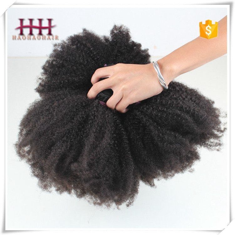 Brazilian Remy Human Hair 4C Afro Kinky Curly Human Hair Weave