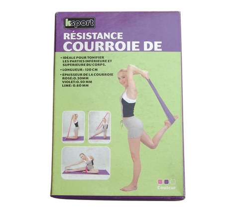 resistance bands/latex flat bands/latex fitness bands/