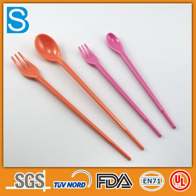 High end long handle dinner fork