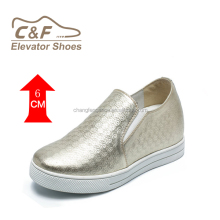 High class height increasing silver grey overseas shoes/pure man leather shoe/shoes factory china