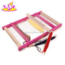 Hot funny kid DIY playset weaving loom toys,Popular gift children wooden toy loom,Wooden creative kids loom toy W01B016