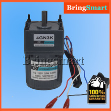 4IK25GN-C AC 220V 25W Geared Motors Fixed Speed Motor Single Phase 220V AC Constant Speed Motor Reversible With Capacitor