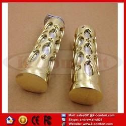 "KCM274 For Honda Magna 750 Shadow 600 750 GOLD Motorcycle Hollow shape 1"" Motorcycle Hand Grips"