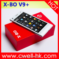 China Android Phone in India X-BO V9+ 5.0 Inch QHD Touch Screen Dual Core Dual SIM Card Android Smartphone