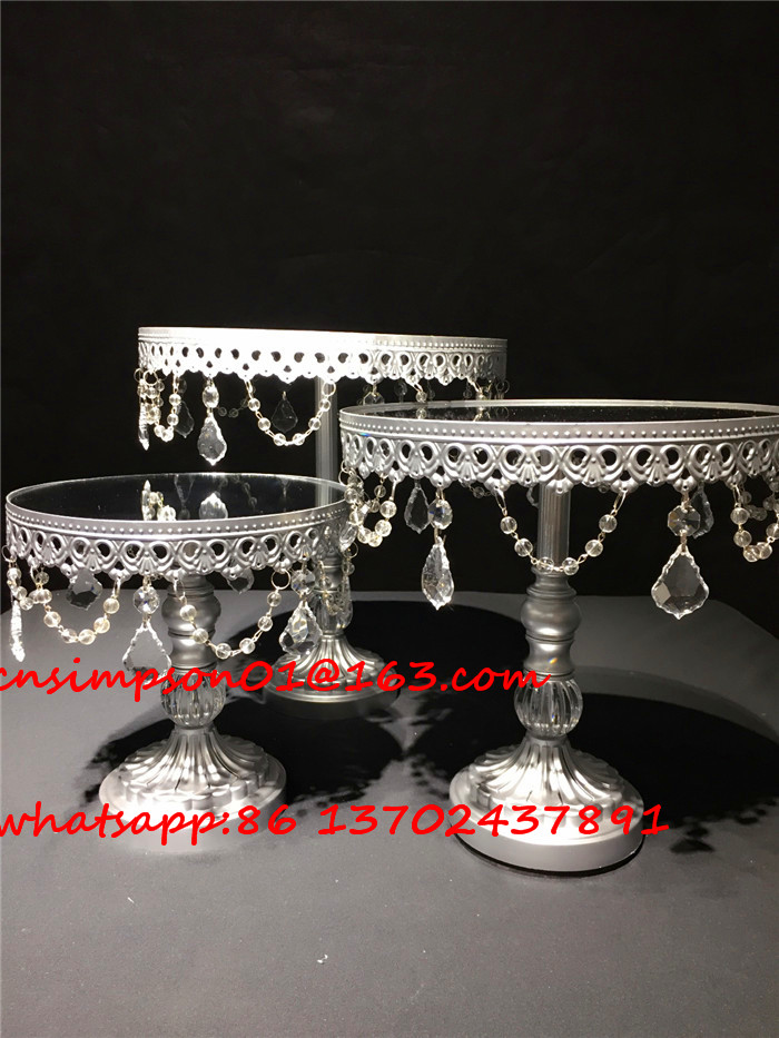 silver plated metal wedding cupcake stand for party decoration