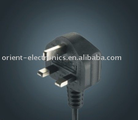 BSI approved british 3-pin fused plug/ UK power cord/UK type cord