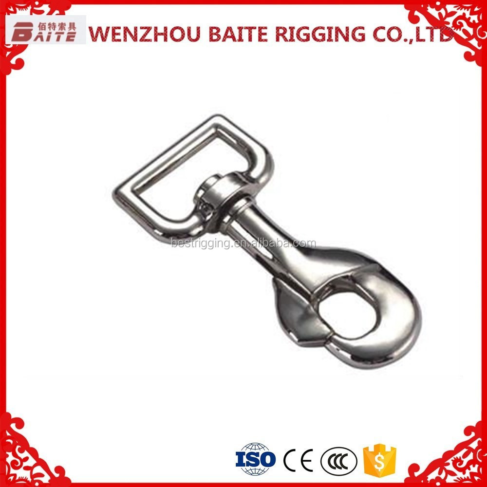 Zinc alloy swivel eye snap hook ,zinc plated swivel snap Hook zinc die cast nosing ring in rigging manufacturer made in China