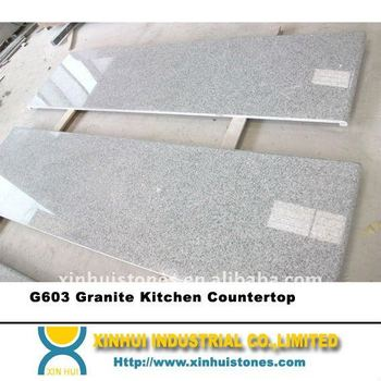 G603 Granite Kitchen Countertop with full bullnose edges