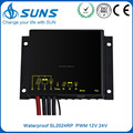 PWM 12V 24V 10A 20A light control waterproof cheap price solar charge controller