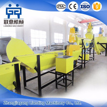 Hot sale 500kg/h waste plastic pet crushing washing recycling production line