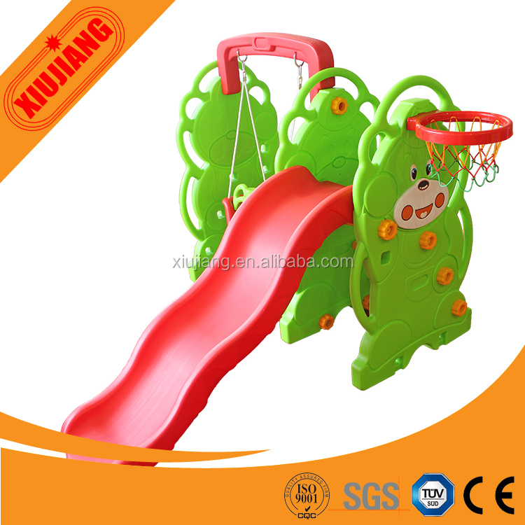 cheap kids indoor small plastic toys playground slide for sale