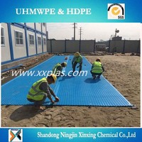 1.27cm thick polyethylene plastic Temporary road Mat