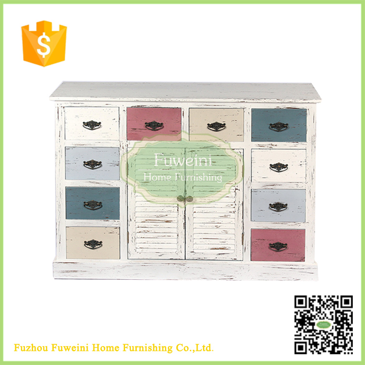Shabby chic popular antique container shape cabinet furniture