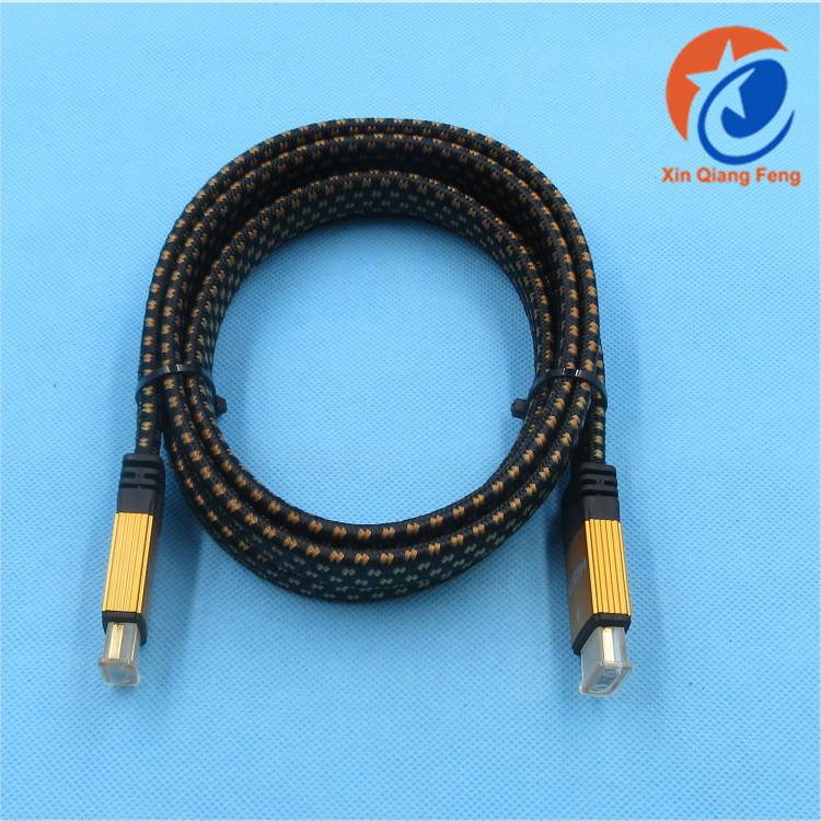 Durable black 1.8m 1.3V 24K male to male nylon braided waterproof hdmi digital audio video cable hdtv cable for 1080P HDTV