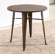Modern Wood Top Metal Legs Coffee Shop Table Kitchen Restaurant Dining Room Sets Stainless Steel Dining Table