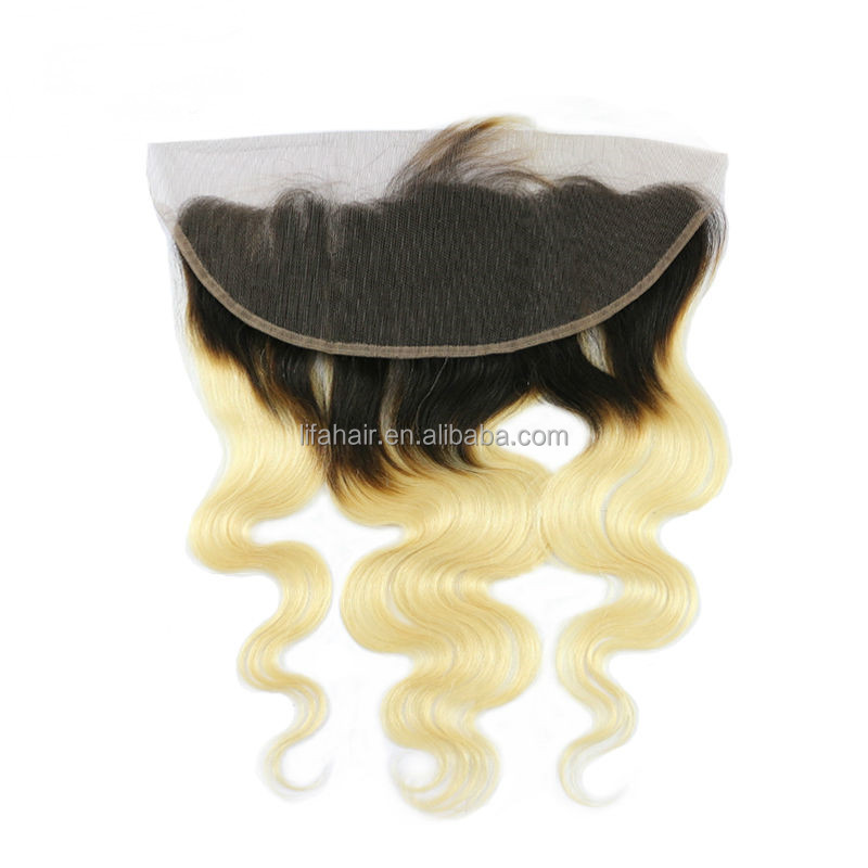 hair extension human hair 613 blonde frontal with black roots hair
