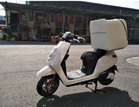 Electric Motorcycle For The Food Delivery