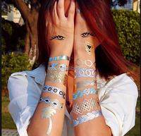 Glitter tattoo body art for women temporary tattoo wholesale