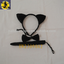 Full Black Fascinating Cat Headwear Kits for Party