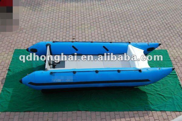 CE certifiate 3.8m sailing inflatable catamaran boat in China