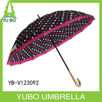 Japan market bubble heat-trnsfer printing two tone auto open straight umbrella