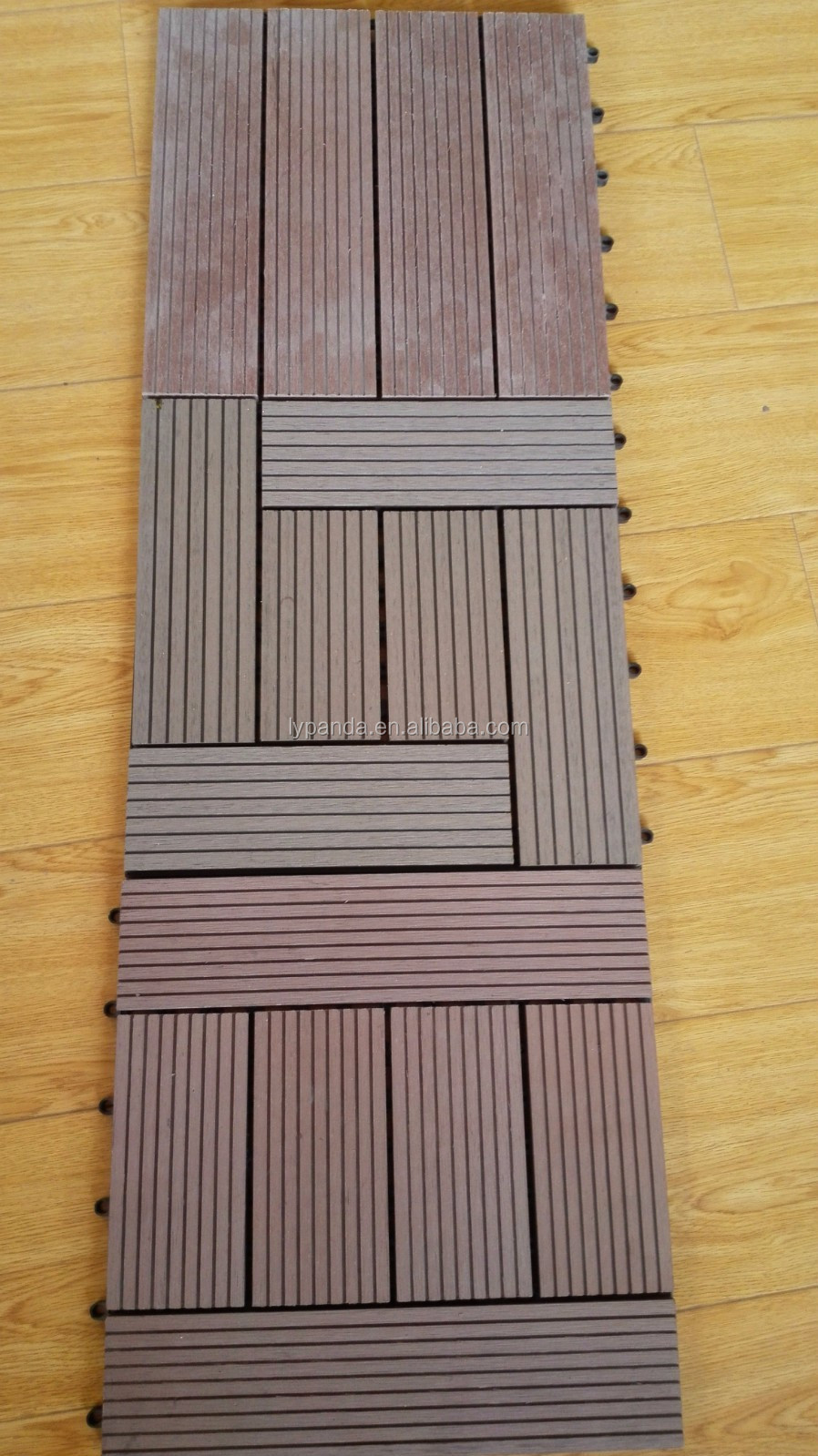 eco-friendly and easy install wpc diy tiles for outdoor garden/terrace/roof