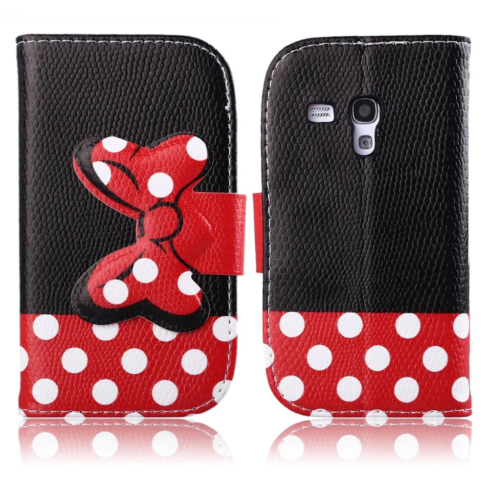 For Samsung Galaxy S7562Case,Case for Samsung Galaxy S7562 PU Leather Wallet Case Cute Bow-knot Flip Cover for Galaxy S7562 Case