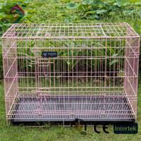 Aluminum dog cage a large folding fashion wire pet cage