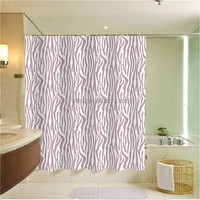 high quality and 100%poly textured stripe plain shower curtain