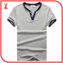 MST08 New men summer cotton V-neck short-sleeve t-shirt solid color T-shirt men Hot Cheap