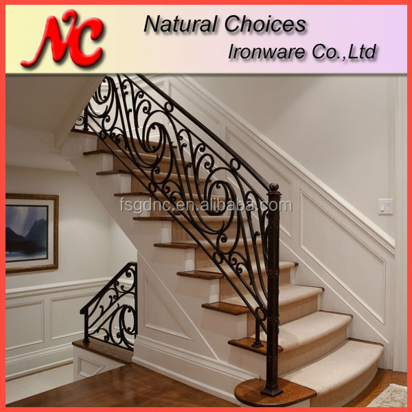 nouveau design balustrade en fer forg rampe d 39 escalier rampes et mains courantes id de. Black Bedroom Furniture Sets. Home Design Ideas