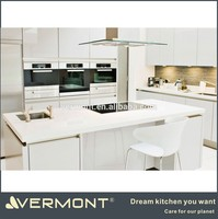 china manufacture shaker door design white colour kitchen cabinet