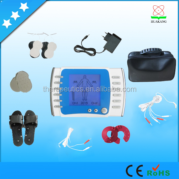 China Factory made double channel tens machine with electrode pads