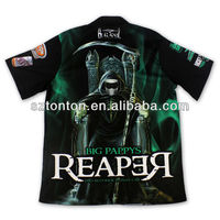 100 polyester sublimated pit crew shirts