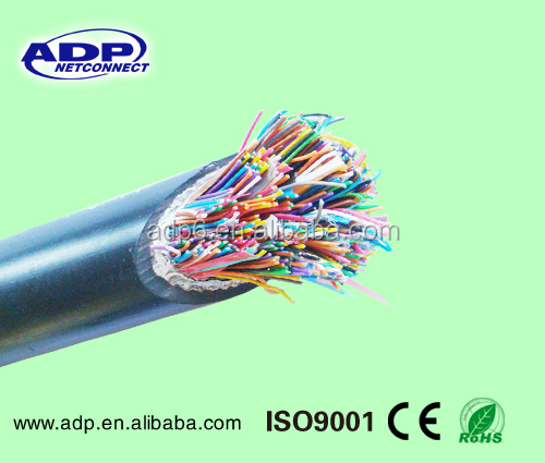 Professional manufacture outdoor cat3 cable PE Jacket 0.4mm Solid CCA copper