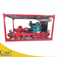 diesel engine driven fire water pump skid mounted