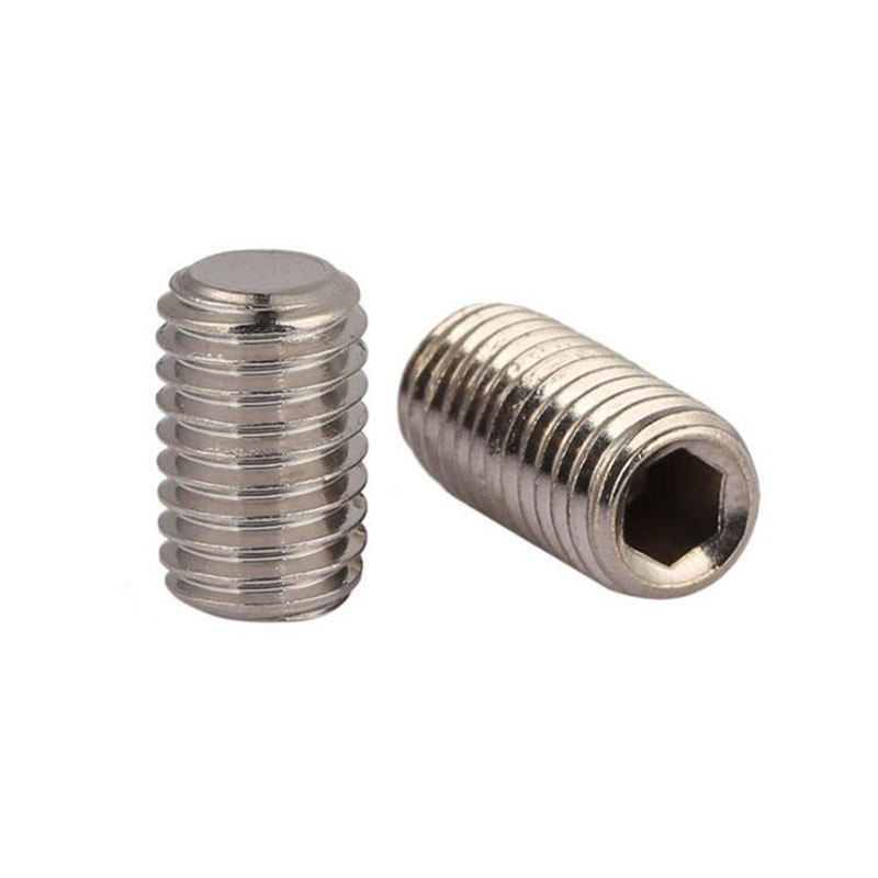 Hot Sale Stainless Steel DIN 913 Hexagon Socket Set <strong>Screws</strong> With Flat Point Free Sample Worldwide