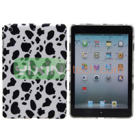 Leopard Cloth Coated Back Hard Case For iPad Mini 2