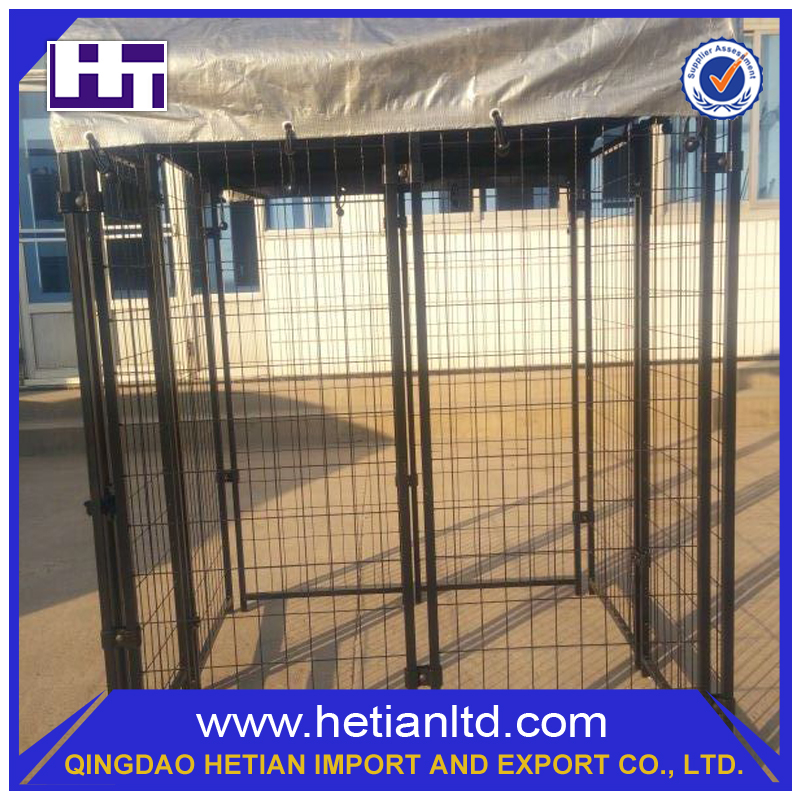Trade Assurance Modern Top Grade Iron Dog Kennel With Veranda