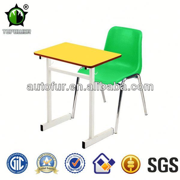 Colorful cartoon school desk and chair furniture school exam chair